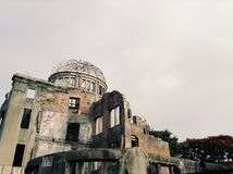 A Dome Hiroshima World War II memorial Stock Photography