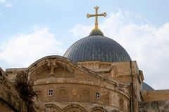 Dome of Holy Sepulcher church in Jerusalem. Stock Images