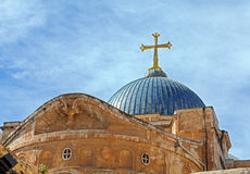 Dome of Holy Sepulchre Cathedral, Jerusalem Stock Photos