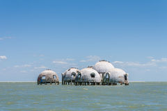 Dome Home. The Abandoned Dome Home of Cape Romano stock photos