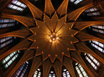 Dome in the hungarian parliament Stock Photos