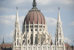 Dome of Hungarian Parliament building Stock Images
