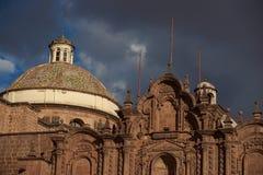 Dome of the Iglesia de la Compania in Cusco Royalty Free Stock Photos