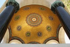 Dome. The inside of a dome is covered in a pattern of mosaic tiles in Istanbul, Turkey Royalty Free Stock Images