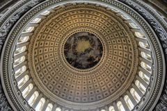 Dome inside of US Capitol, Washington DC. The dome inside of US Capitol in Washington DC Stock Images