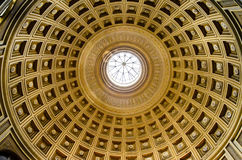 Dome inside the vatican museums,Rome, Italy. Interior view of dome in Vatican museums, Vatican City, Rome, Italy, Europe Royalty Free Stock Photography