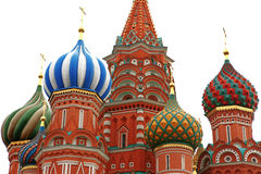 Dome of Intercession Cathedral St. Basil's on Red square isolate Stock Photography