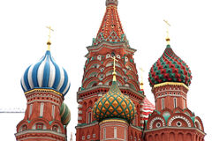 Dome of Intercession Cathedral St. Basil's on Red square isolate Stock Photos