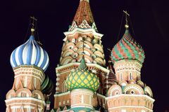 Dome of Intercession Cathedral St. Basil's on Red square in Mosc Stock Image