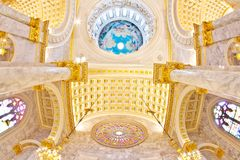 Dome  Interior a Catholic Church Stock Photography