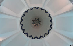 Dome Interior of KIPSAS Mosque in Pahang Royalty Free Stock Images