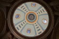 Dome Interior. Interior of the dome at the Manitoba Legislative Building, Winnipeg, Manitoba, Canada Royalty Free Stock Image