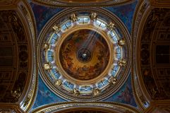 Dome interior of Saint Isaac Cathedral  in Saint Petersburg Royalty Free Stock Photography