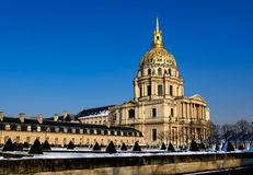 Paris - the snowy Invalides Royalty Free Stock Photos