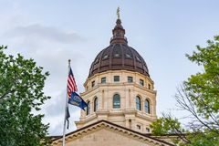 Dome of the Kansas State Capital Building. In Topeka, Kansas stock image