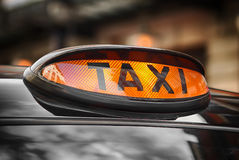 Dome. Lamp of classic black cab in London royalty free stock photography