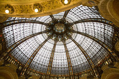 Dome of Layette Department Store, Paris. Dome of Layette Shopping Department Store, Paris, France Stock Photo