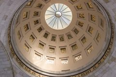 Dome of Lazarus church. With bright light stock photography