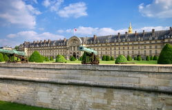 Dome of Les Invalides - landmark attraction in Paris, France. Clear day at Dome of Les Invalides - landmark attraction in Paris, France Stock Image