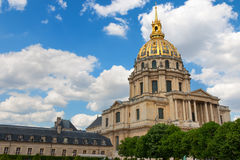 Dome of Les Invalides in Paris Royalty Free Stock Photos