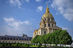 Dome of Les Invalides - attraction in Paris, France Stock Photos