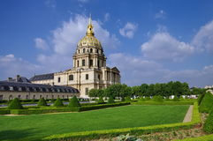 Dome of Les Invalides - landmark attraction in Paris, France. Clear day at Dome of Les Invalides - landmark attraction in Paris, France royalty free stock photo