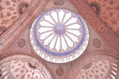 Dome of the Light. Dome of Blue Mosque at Istanbul Turkey Royalty Free Stock Photography