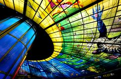 Dome of Light, Kaohsiung. The Dome of Light at Formosa Boulevard Station in Kaohsiung, Taiwan Stock Image