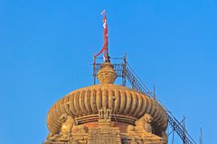 Dome of Lingaraj temple Royalty Free Stock Photo