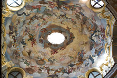 Dome of Maddalena church at Alba on Piedmont Royalty Free Stock Photo