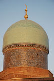Dome of madrasa Burukhon. Mosaic dome of ancient madrasa Burukhon in middle asia,country Uzbekistan,capital Tashkent. outside Royalty Free Stock Photo