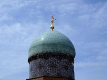 Dome of madrasah Kukeldash Stock Photo