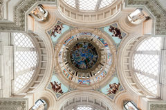 Dome of Main hall at National Art Museum of Catalonia Stock Photography