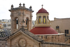 Dome of Maltese Church. At Mellieha village Stock Photography