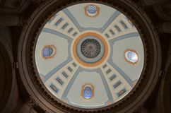 Dome at the Manitoba Legislature. Colorful dome interior at the Manitoba Legislature royalty free stock photography