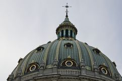 Dome of The Marble Church. Dome of Frederik Church known as The Marble Church in Copenhagen, Denmark stock photo