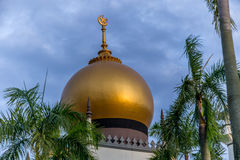 Dome of the Masjid Sultan Mosque in Singapore. View of the dome of the Masjid Sultan Mosque in Singapore stock photo