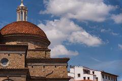 The dome of Medici Chapels in the San Lorenzo Church in Florence, Tuscany, Italy Royalty Free Stock Photo