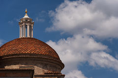 The dome of Medici Chapels in the San Lorenzo Church in Florence, Tuscany, Italy Royalty Free Stock Photos