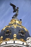 The dome of Metropolis building in Madrid, Spain Royalty Free Stock Image