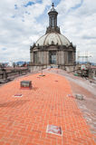 Dome of Metropolitan Cathedral, Mexico City Royalty Free Stock Photo