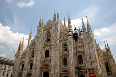 Dome of Milan stock photography
