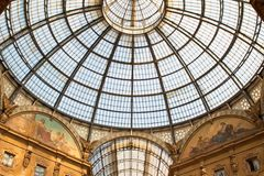 Dome in Milan Vittorio Emanuele Gallery Stock Image