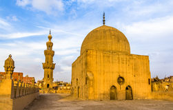 Dome and minaret of the Amir al-Maridani mosque in Cairo Stock Photos
