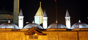 Dome and minaret of Mevlana Museum. Stock Photos