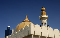 Dome and minaret of a mosque Royalty Free Stock Photography