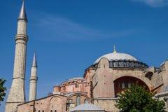 Dome and minarets of Hagia Sophia Royalty Free Stock Photo