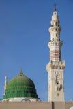 Dome and minarets of masjid nabavi Royalty Free Stock Photo