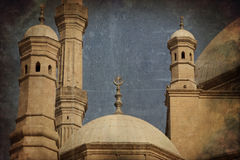 Dome and minarets of mosque stock photography