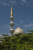 Dome and Minarets of Sabah State Mosque in Kota Kinabalu Stock Image